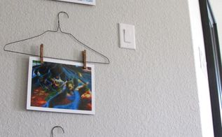diy hanger art display, home decor, wall decor