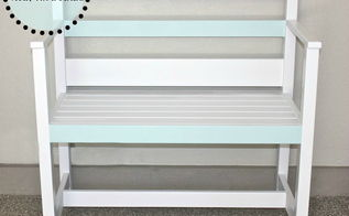 garden bench ikea loft bed repurpose, garages, painted furniture, repurposing upcycling