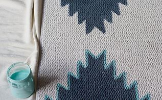 Diy Painted Rug West Elm Aztec Inspired Home Decor How To