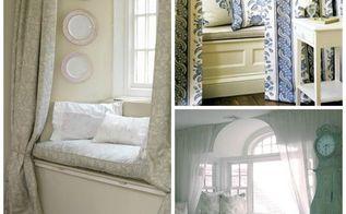 windows seats whimsical, home decor, window treatments, Drapery