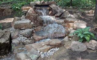 schererville pondless waterfall, landscape, outdoor living, ponds water features, After