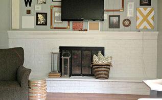 wall art gallery tv hanging, home decor, living room ideas