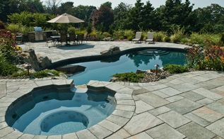 backyard ideas renovation spa hot tub, outdoor living, spas, Spa Pool Combinations