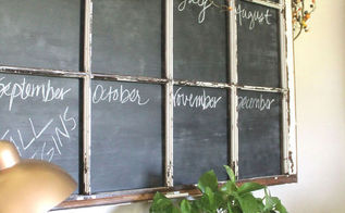 chalkboard paint caledar window pane repurpose, chalkboard paint, crafts, repurposing upcycling