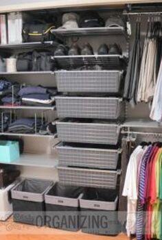 organizing closet mens makeover, closet, organizing