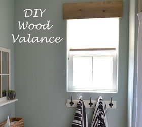 Windows Valance Wood Simple East Rustic, Bathroom Ideas, Home Improvement,  Kitchen Design,