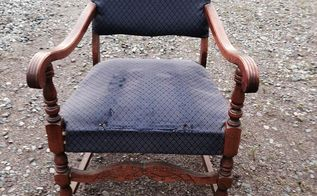 q antique chair makeover, painted furniture, repurposing upcycling, reupholster, Project in question