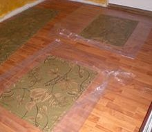 my first floorcloth project, crafts, flooring, reupholster, Completed Floorcloths in the final cure stage
