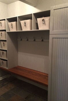 mudroom renovation, home improvement, laundry rooms, storage ideas
