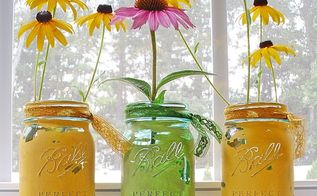 mason jars painted distressed, chalk paint, crafts, home decor, mason jars, repurposing upcycling