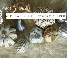 crafts fall pumpkins painting metallic, crafts, seasonal holiday decor