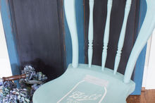 mason jar milk paint stenciled chair, painted furniture