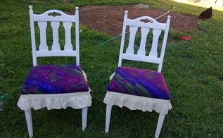 goodwill chair makeover, painted furniture, repurposing upcycling
