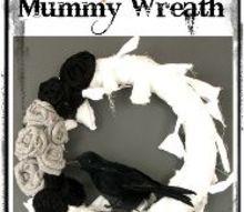 diy wreath halloween mummy fall decor, crafts, halloween decorations, seasonal holiday decor, wreaths