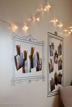 wall art decal wallternative frame stencils no nails, bedroom ideas, home decor, organizing, wall decor