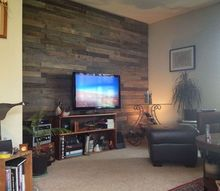 pallet board entertainment wall, pallet, repurposing upcycling, wall decor, woodworking projects