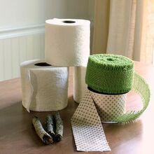 crafts pumpkins toilet paper rolls ribbon, bathroom ideas, crafts, repurposing upcycling, seasonal holiday decor