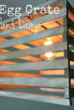 light pendant antique egg crate, diy, home decor, lighting, repurposing upcycling