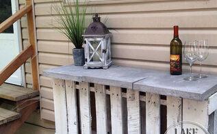 pallet mini bar, outdoor living, pallet, repurposing upcycling