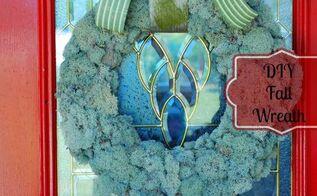 wreath moss fall decor, crafts, seasonal holiday decor, wreaths