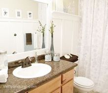 bathroom makeover budget affordable decor light fresh, bathroom ideas, small bathroom ideas