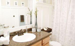 bathroom makeover budget affordable decor light fresh, bathroom ideas, small bathroom ideas