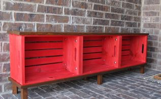 diy crate bench, diy, outdoor furniture, painted furniture, porches, repurposing upcycling