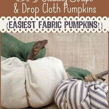 crafts fall fabric pumpkins tutorial, crafts, halloween decorations, seasonal holiday decor, reupholster