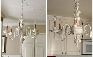 shabby chic chandelier makeover antique, diy, lighting, repurposing upcycling