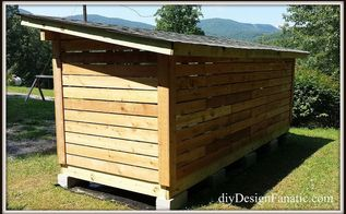 building a woodshed, diy, outdoor living, woodworking projects