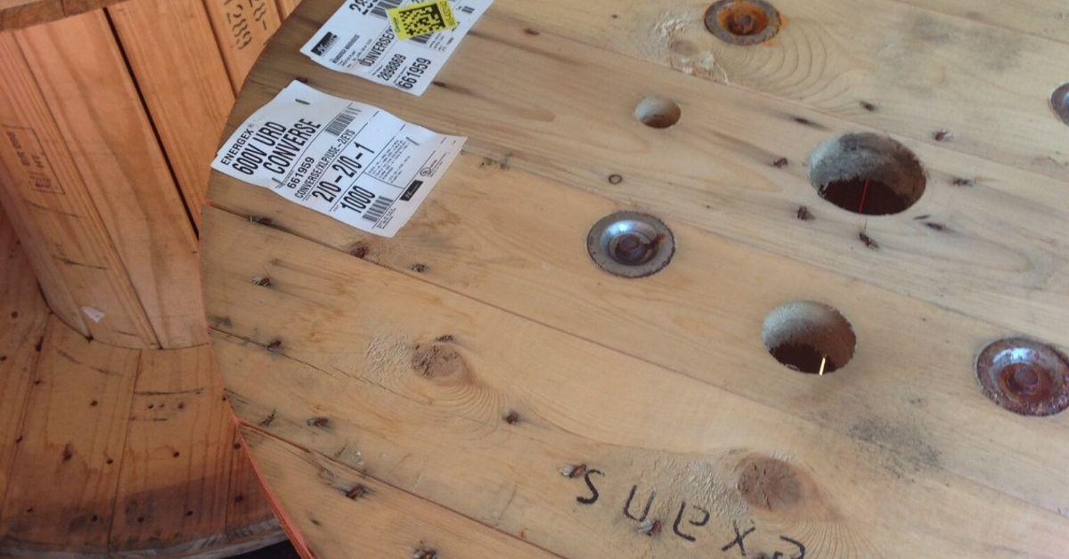 Diy Large Cable Spool Wall Clock Hometalk