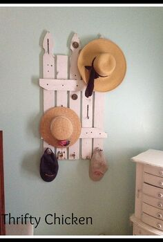 garage therapy and a hat rack, diy, home decor, painted furniture, repurposing upcycling, wall decor, woodworking projects, Hat Rack all done