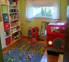 fire truck toddler bed bedroom ideas diy painted furniture repurposing upcycling fire truck toddler bed