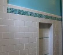diy bathroom makeover before baby, bathroom ideas, diy, home improvement, small bathroom ideas, tile flooring, 3 x6 Rittenhouse Square Subway Tile