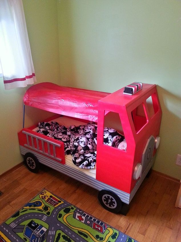 fire truck toddler bed bedroom ideas diy painted furniture