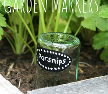 diy upcycled glass bottle garden markers, crafts, diy, gardening, repurposing upcycling
