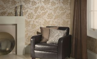 fearless design with damask wallpaper, home decor, wall decor, Adeline Beige Floral Damask Wallpaper R1873