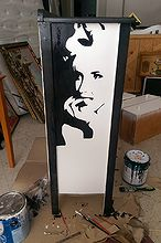 painted furniture chest marilyn monroe, painted furniture, repurposing upcycling