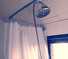 rig up a shower no plumber needed, bathroom ideas, diy, plumbing