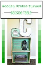 crates bedside table build wood, painted furniture, repurposing upcycling, woodworking projects