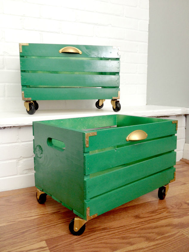 painted crate campaign style shoe storage hometalk