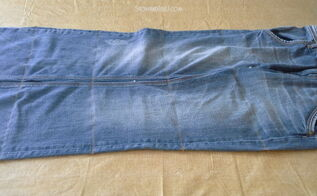 blue jean hanging organizer, crafts, diy, organizing, repurposing upcycling, storage ideas