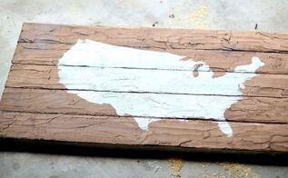 dig faux pallet map foam board art, crafts