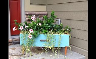 upcycle planter dresser drawer repurpose, container gardening, diy, painted furniture, repurposing upcycling