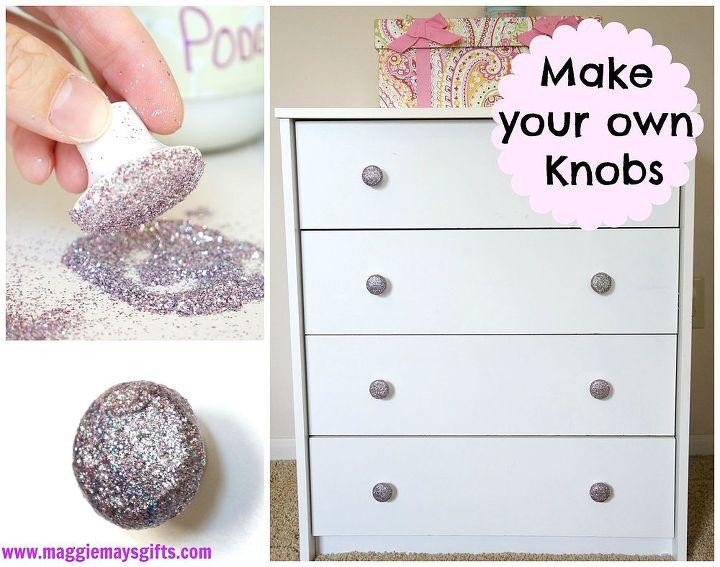 diy dresser knobs glitter mod podge budget  crafts  painted furniture. DIY Glitter Dresser Knobs Easy and Cheap    Hometalk