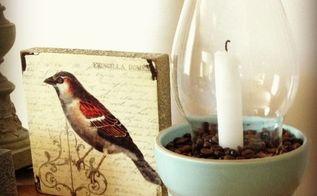 home decor chimney candle holders coffee beans, home decor, seasonal holiday decor