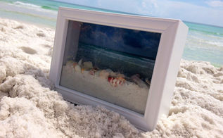 crafts shadow box ocean vacation, crafts