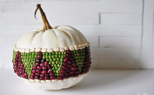 how to update a simple geometric bean pumpkin inexpensively, crafts, seasonal holiday decor