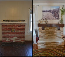 home renovation fireplace redo, concrete masonry, diy, fireplaces mantels, living room ideas