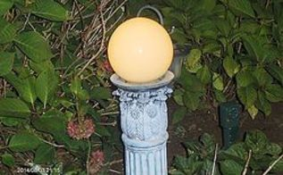 garden art gazing light homemade, lighting, outdoor living